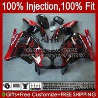 Cuerpo de inyección para Honda Rojo Llamas BLK CBR 250RR 250 RR CC CBR250RR 90 91 92 93 94 95 96 97 98 99 111hc.23 250cc MC22 CBR250 RR 1990 1991 1992 1995 1996 1997 1997 1995 1996 1997 1997 1997 1996