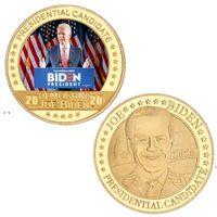 Newbiden Gold Comemorativo Coin 2021 Presidente Biden Comemorativo Moeda Metal Crachá Americana Presidente Joe Biden Lembrança Moeda Ewe7612