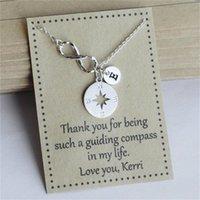 Collane di proposta di damigella d'af dell'infinito personalizzata, braccialetti dei gioielli della ragazza del fiore di nozze, regali di laurea di natale del nuovo anno