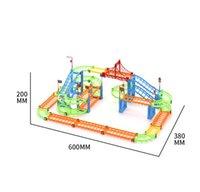 102pcs City Building Blocks Rall Car Children Diy Assembly Build Circular Toys Inspire Imagination Design Various Shape Transport Rail 03