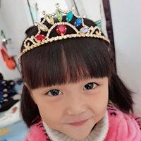 Corona di fascia alta Europeo e americano Accessori per capelli Nuovo Crystal Sunflower Ladies Girl Headdress Wedding Tiaras Gioielli per capelli 1014 T2