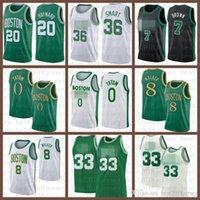 2021 New Basketball Jersey BostonKelten33 Marcus 36 Smart Jayson 0 Tatum Kemba 8 Walker Marcus 36 Smart Gordon 20 Hayward grün