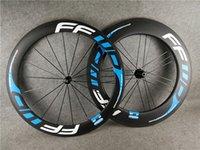 FFWD Road Bleu 60mm Front 88mm Roues arrière Tubular Carbon Vélo Vélo Vélo Vélo 23mm Roues de fibre de carbone plus larges