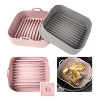 Pan a la parrilla resistente Pan Pan Torta Multifuncional Microwave Air Fryer Pot Silicone Pot Gadgets y accesorios