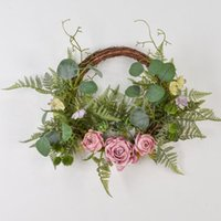 Artificial Wreath Plants Leaf Background Wall Window Decorative Wedding Party Supplies Gifts Diy Christmas Home Decoration Flowers & Wreaths