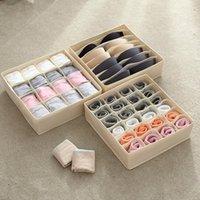 Storage Boxes & Bins 7 16 24 Cells Underwear Box Organizer For Women Men Wardrobe Socks Bra Case Washable Oxford Container Holder