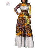 Vestidos casuais outono moda afribe para mulheres Dashiki laço retalhos tradicional vestido de festa de roupas africanas wy2014