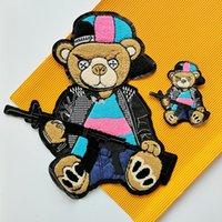 Strumenti Ricamo Big Bear Patch, Ricamato Grande ciniglia Bears Badge del fumetto, appliques animali Lettera Distintivi del cuore Accessorio fai da te, patch per abbigliamento A218124