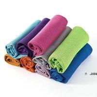 New90 * 30cm Gelo toalha fria de verão Refrigeração Sunstroke Esportes Exercício Yoga Toalhas Lenço Rápido Seco Soft Towel Sport Supply EWF6110