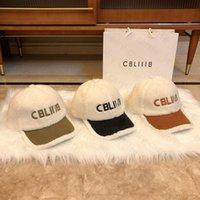 야구 모자 패션 양동이 모자 양 양모 패치 워크 편지 디자인 남자 여자 공 모자 3 색 좋은 품질