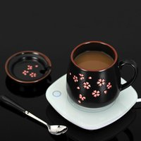 Tazze Sakura Coppa con cucchiaio in stile giapponese 370ml latte in ceramica tè in ceramica in oro verniciato e manico in porcellana creativa