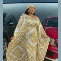سوبر الحجم الأفريقي المرأة dashiki الحرير الأزياء فضفاض التطريز فستان طويل للنساء الملابس