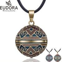 Eudora Harmony Ball Collier Vintage Chime Bola Pendentif pour Femmes Mode Bijoux Cadeau Mexicain Grossesse Ball 45 '' Chaîne 3 Style 210331