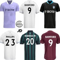20 21 22 LEEDS TROISIÈME SOCCER JERSEYS SUPPORT D'ENTRAÎNEMENT 2021 2022 Purple Bamford Phillips Klich Alioski Hernandez Rouge Black Green Gardien de but de football