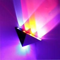 ウォールランプ5 LEDS TRIANGLE SCONCEライトアルミニウム234 * 30 * 166mm 110V 220V屋内通路コリドースライバ+ブラックボディIL