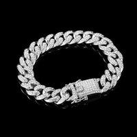 Chain Bracelets Luxury Fashion Rhinestone Bracelet Women Men Hiphop Cuban Link Simple Design Gold Sier Color Jewelry Gifts