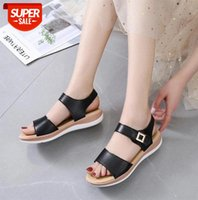 Women Sandals Comfy Roman Wedge Low Heels Breathable Beach Shoes Retro Women's Fashion Sandalia #pJ4u