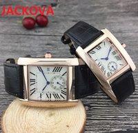 casual women men square dial watches dress famous designer leather strap quartz movement gift clock classic Sapphire waterproof business Couples Wristwatches
