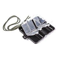 Pesca ao ar livre leo pequeno quadrado tackle gadget 9 grade caixa de acessórios com linha