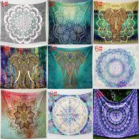 31 designs Tapisseries murales Tapisseries Bohemian Mandala Elephant Elephant Speephant Tapis de Yoga Tapis Tapis Tapis de polyester Tapisseries GWD6096