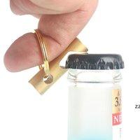 Abridor de garrafa de bronze portátil Keychain Cozinha doméstica Corkscrew Multifuncional Tools Do Outdoor Tools Keyring Pingente HWA7642