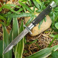OFFERTA SPECIALE Coltello pieghevole tattico automatico VG10 Damascus Blade in acciaio Ebano + acciai con manico in lamiera EDC Coltelli regalo tascabile