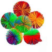 6 см 7см Koosh Ball Sensosory Fidget игрушки Эластичные силиконовые POM DNA Цветные тесто Шарики Squish Стремление Аутизм Adhd Active Funge Fun сжимает игрушку
