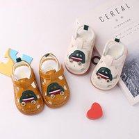First Walkers Toddler Baby Girls Shoes Cartoon Car Cute Hollow Out Soft Crib Kids Summer Sandals Walker