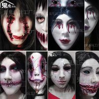 Halloween Haunte House Chambre Secret Escape Cospaly Zombie Monster Femelle Ghost Terreur Terreur Npc Dress Up Masque Headgear