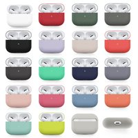 Liquid Soft Silicone Cases For Apple airpods Pro airpod 3 Protective Bluetooth Wireless Earphone Cover Charging case