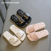 Sandals Kids 2021 Summer Girls Fashion Brand Beach Casual Shoes Solid Rivet Princess Dress Slippers Soft Flats Baby 26-36