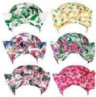 Women Shower Cap Bowknot Nightcap Fruit Seris Pattern Printed Perm Hat Fashion Bathing Hairs Waterproof Hats Hair DWB7789