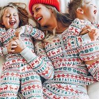 Christmas Family Matching Pajamas Set Mother Father Kids Matching Clothes Family Look Outfit Baby Girl Rompers Sleepwear Pyjamas H1014