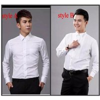 for men White Groom Shirts Wear Wedding Prom Formal Shirt Bridegroom Casual