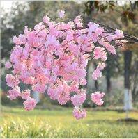 인공 등나무 꽃 갈 랜드 지점 웨딩 장식 벚꽃 복숭아 꽃 꽃 벽 / 윈도우 / 도어 장식 장식