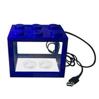 Mini serbatoio di pesce dell'acquario con lampada a LED Light Home Office Desktop Decoration Aquariums