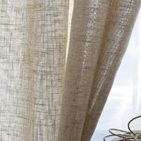 Modern Linen Semi Blackout Curtains Chinese Nordic Yarn Pure...
