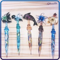 Smoking Hookah Glass Bong Cute Animal Style Dab Tool Wax Stick For Water Pipes Oil Burner Rig Quartz Banger Nail Accessories
