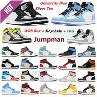 jordan jordans aj1 1s jordon jordons 2021 men women fearless chicago obsidian mocha satin retro shoes 1 1s low mens Jumpman basketball court grey 36-47 t1#dh