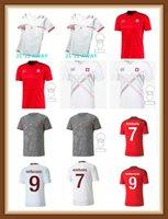Высокое качество 2021 2022 Швейцария 13 Родригес Футбол Джорки прочь белый 20 21 22 Home Akanji Zakaria Elvesi Футбольные рубашки