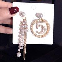 매달아 샹들리에 디자인 전체 진주 모조 다이아몬드 귀걸이 기질 여자 Tassel 5 문자 귀걸이 파티 선물