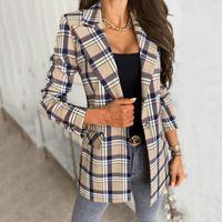 Women's Suits & Blazers Women Blazer Casual Long Sleeve Slim Jackets 2021 Autumn Office Suit Striped Coat Cardigan Formal Femme Coats