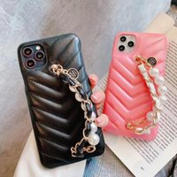 Card Holders Suitable For IPhone11promax Mobile Phone Case Lambskin Pearl Bracelet 7 8plus Fashion Women Xsmax