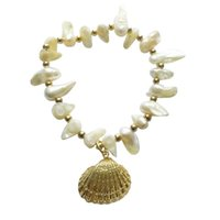 Charm Bracelets Cowrie Shell For Women Boho Fashion Jewelry Freshwater Pearl Bracelet Armbanden Voor Vrouwen Pulseras Mujer Bff