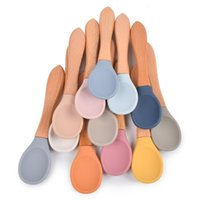 Utensil Baby Silicone Bowl Spoon Set 2 Pcs Feeding Scoop Tableware Cycle Food Grade Ins Dish Plate 3333 Q2