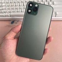 Handygehäuse Blaue Goldrückdeckung für iPhone x xs mas wie 11 Pro 11Pro Max Aluminium Metall Batterietür Ersatz