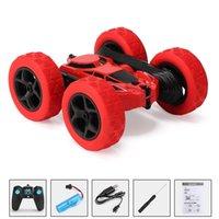 2021 двухсторонний 360 ° вращающийся и кувыркий трюк автомобиль крутящий автомобиль 2.4G зарядки робота RC автомобили игрушки дети подарок