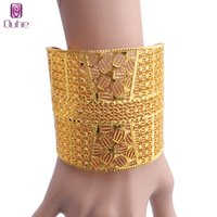 Trendy Flower Bnagle Women Jewelry 24k Gold Color Bangles Bracelet African Dubai Arab Party for Mom Gifts