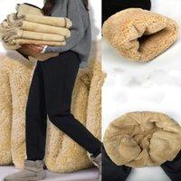 Women's Pants & Capris Plus Size Leggings Women Clothing 2021 High Waist Black Warm Faux Wool Liner Fitness Leggins Winter Cargo Legins R88