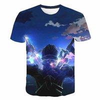 Kılıç Sanatı Online T-shirt Anime Sao 3D Baskı Streetwear Erkek Kadın Rahat Moda T Gömlek Oyun Tees Harajuku Hip Hop Giyim Erkekler T-Shi Tops
